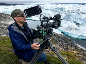 Director and Cinematographer Jon Shenk on the set of An Inconvenient Sequel: Truth To Power from Paramount Pictures and Participant Media.
