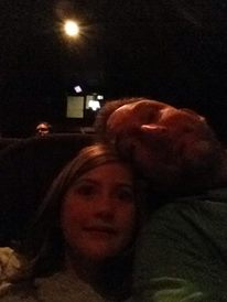 My daughter and I, pre-movie selfie